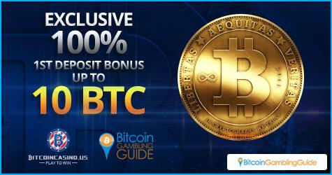 Exclusive 100% First Deposit Bonus for BitcoinGG players at BitcoinCasino.us