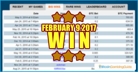 Player wins jackpot at Bitcoin Video Casino