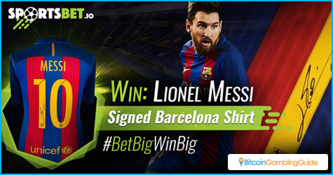 Sportsbet.io gives away a Barcelona shirt signed by Lionel Messi