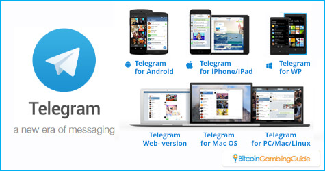 Telegram works on different platforms