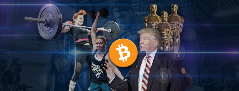 Bet Bitcoin on CrossFit, Politics & Award Shows