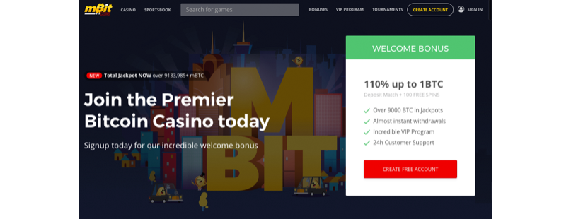mBit Casino Redesign Leads to Superior Bitcoin Gaming Experience