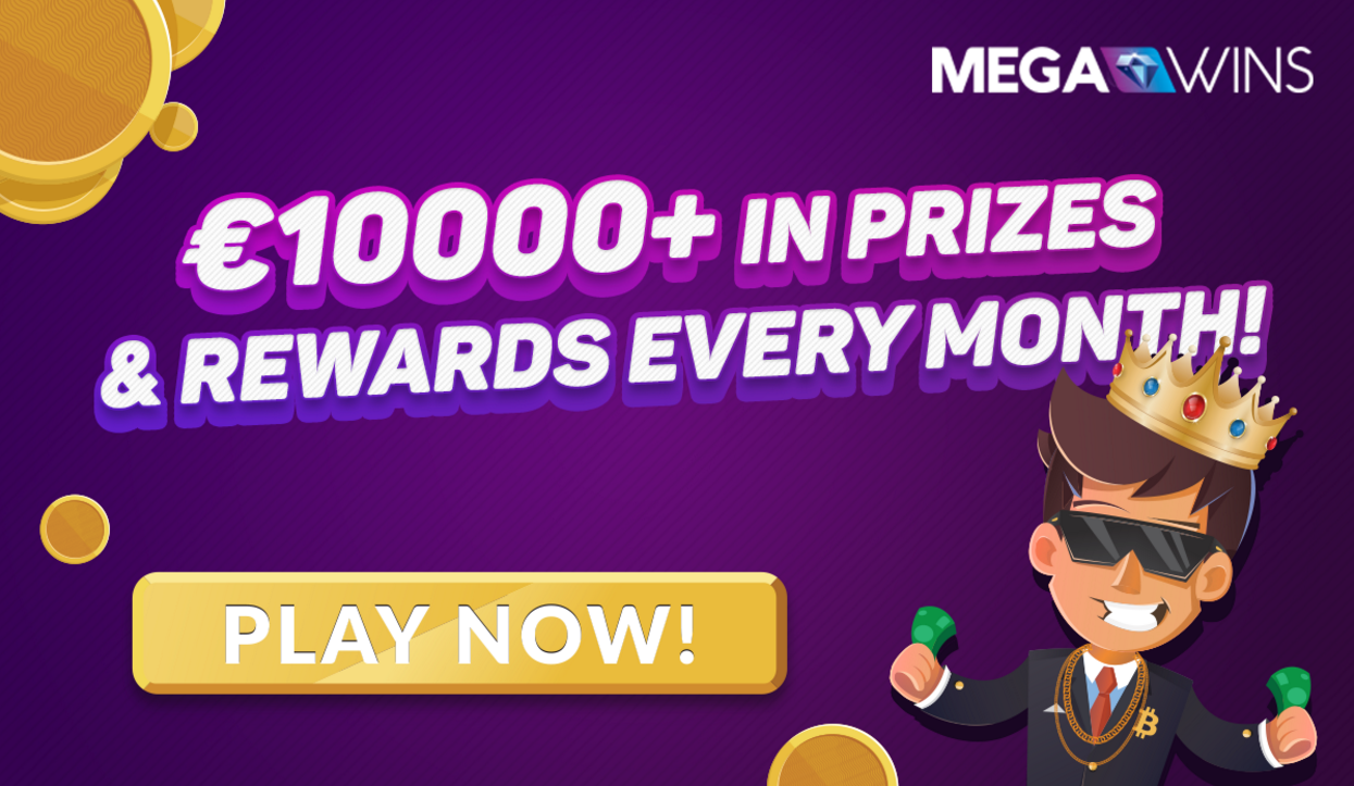 €10000+ in Prizes & VIP Rewards Available Every Month at Megawins!