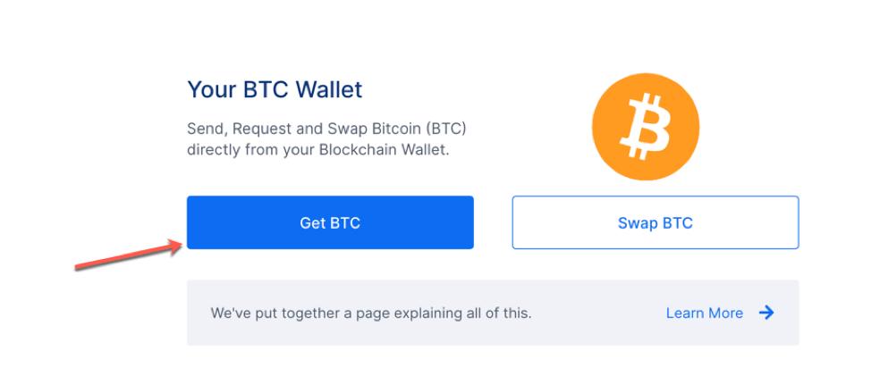 Buying Bitcoin at Blockchain.com