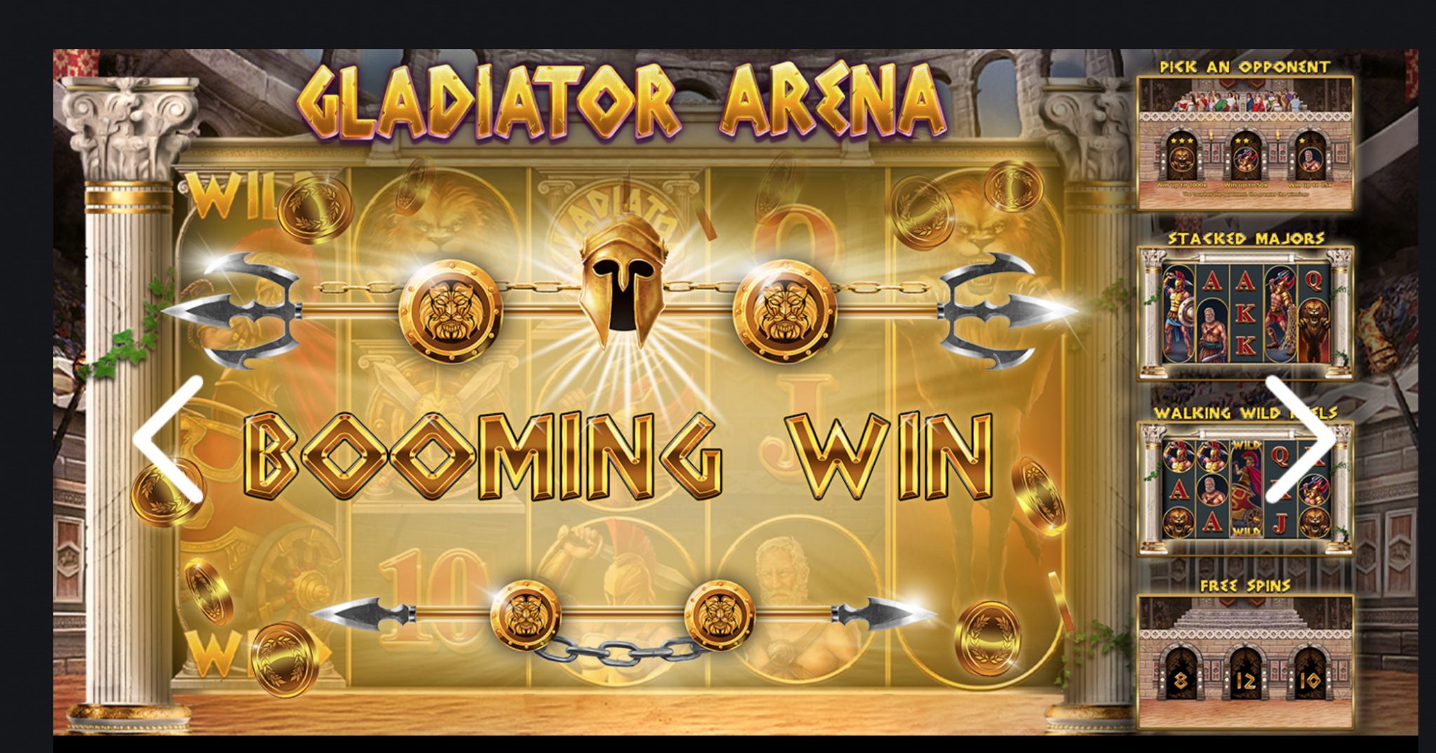 Booming Games Gladiator Arena Slots