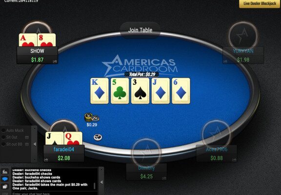 Americas Cardroom Poker Table