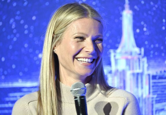 Gwyneth Paltrow speaking at a conference