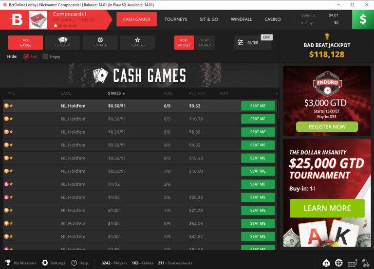 Betonline Bitcoin Poker