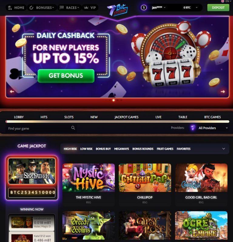 7Bit Casino Main Page