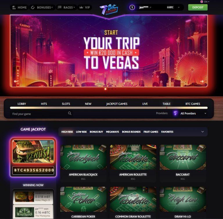 7Bit Casino Table Games
