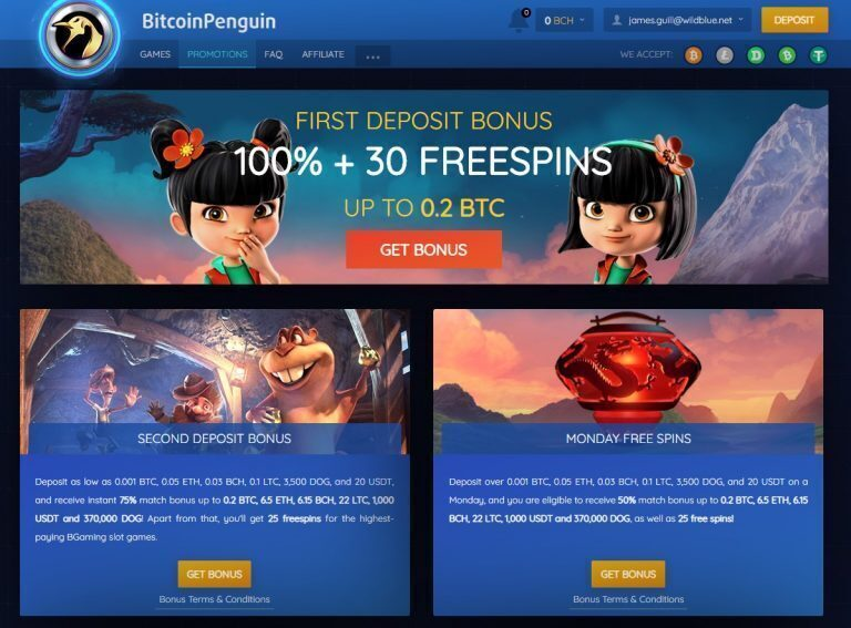 Bitcoin Penguin Promotions